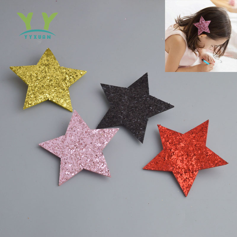Big Star Hairpins Hair Barrettes Children Accessories Cute Baby Girls Headwear Sparking Hair Clip A42 baby cute style children accessories hairpins rabbit fur ear kids girls barrette lovely hair clip