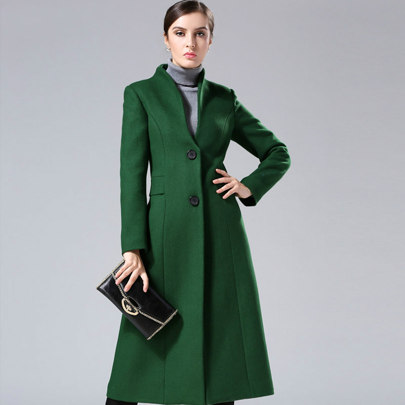Popular Green Long Coat Wool-Buy Cheap Green Long Coat Wool lots ...