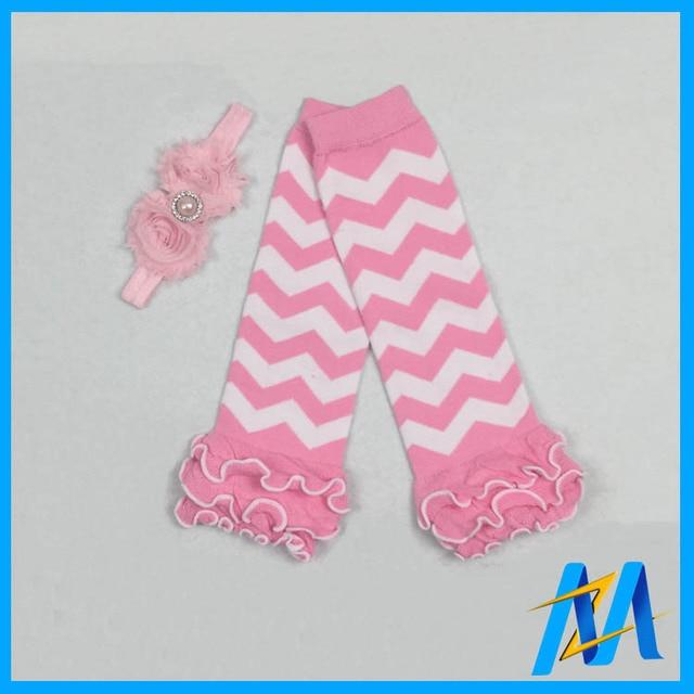 Newest Ruffle Baby Leg Warmerspink Chevron Legging Baby Cotton