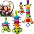 Baby Toys Animal Giraffe Ladybug Crib Bell Hang Rattle Animals Doll Baby Stroller Hanging Wind Chimes 0-12 Months Newborn Rattle
