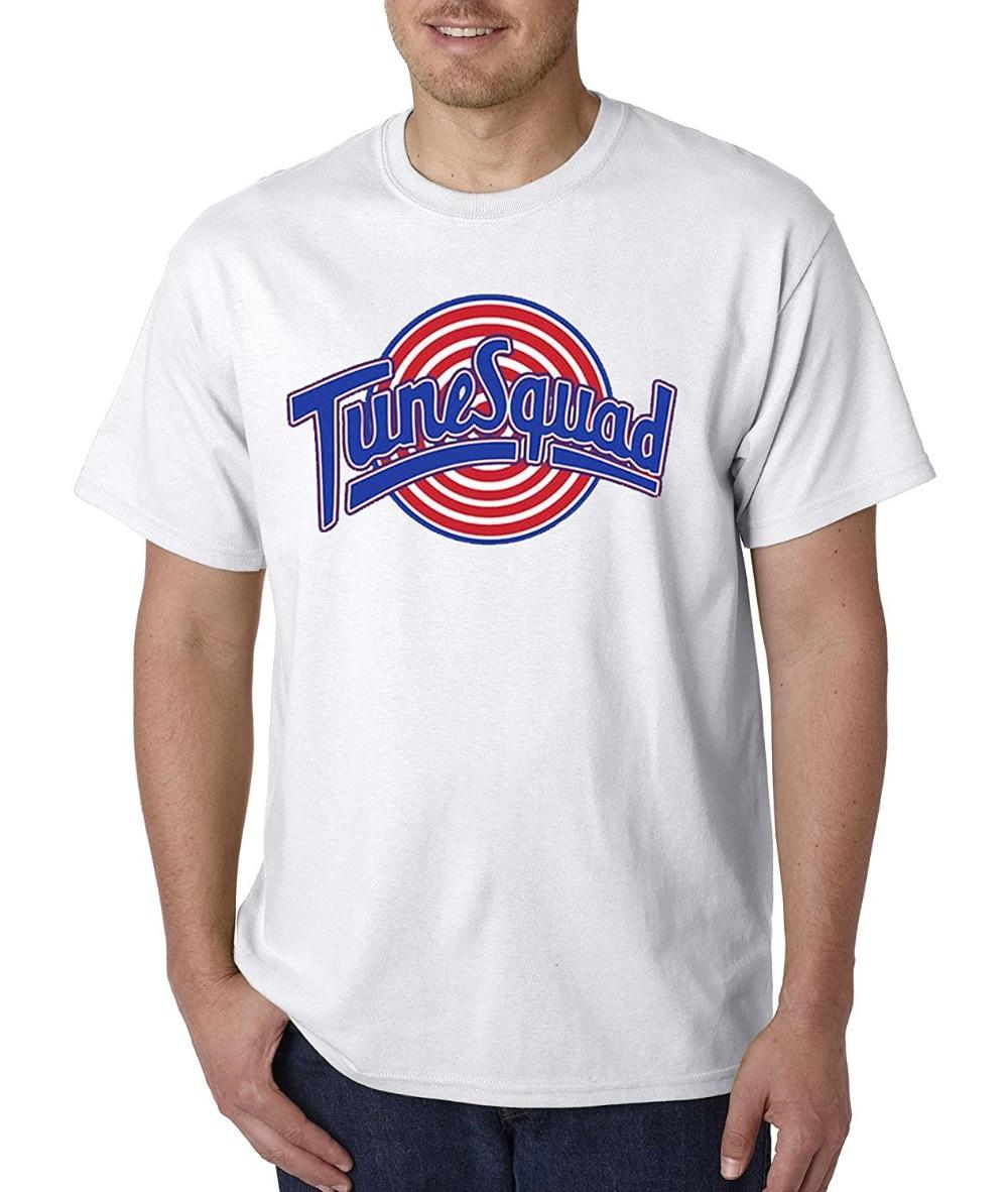 208723ff1fec Printed Shirts Short Sleeve Men Unisex T-Shirt Tune Squad Space Jam Team  Short Crew Neck T Shirts