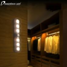 LED Under Cabinet Light PIR Motion Body Sensor Camping Lamp AAA*3 Battery DC4.5V Wardrobe Cupboard Closet Kitchen Night Light все цены