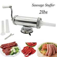 £ Horizontale Manuelle Typ Fleisch Wurst Stuffer, der Maschine Wurstfüller Salamiprodukte Maker Fix Saug Füllung Trichter