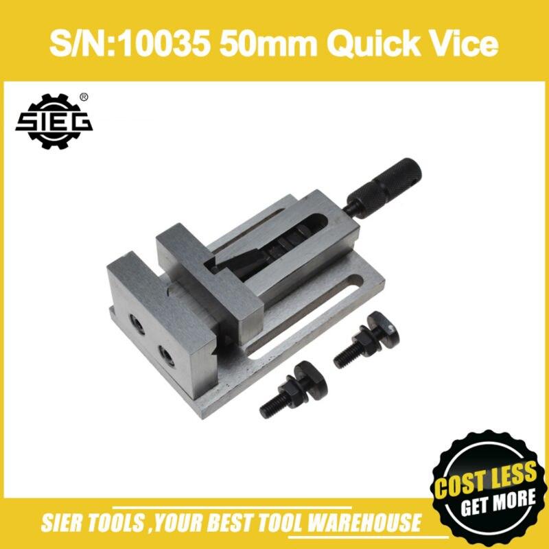 Free Shipping S N 10035 50mm Quick Vice SIEG C1 M1 X0 SX0 X1 SX1 XN2