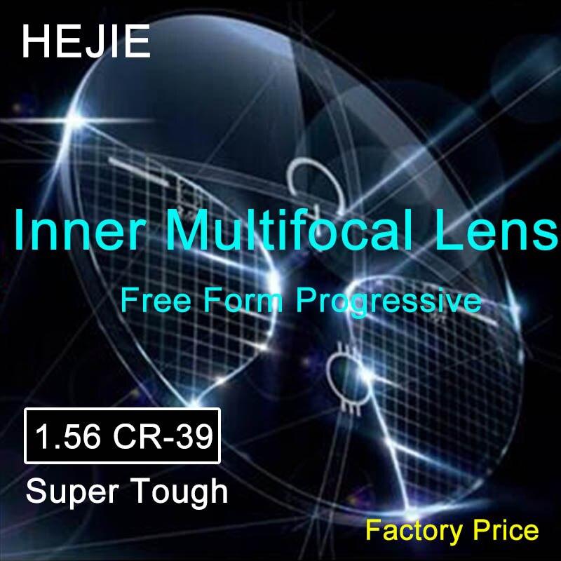 Prix usine 1.56 verres progressifs de forme libre de CR-39 Super dur intérieur avec lentille de Prescription multifocale de Protection UV