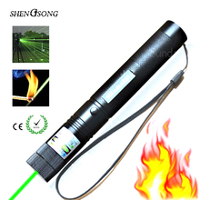 Green Laser Sight Rifle Scope Riflescope CNC Lasers Pointer Powerfully Focus Lazer 532nm Powerful Hunting SD Laser 303 with Star