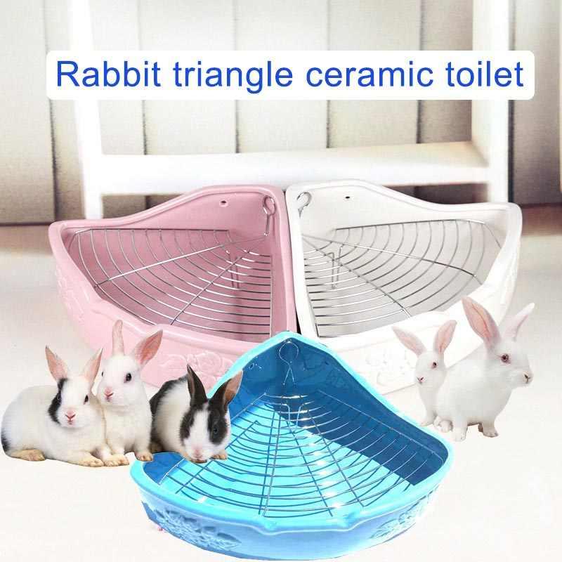 เซรามิคห้องน้ำสำหรับสัตว์เลี้ยงเทรนเนอร์มุมกล่องครอกสำหรับChinchillaกระต่ายหนูแฮมสเตอร์DTT88