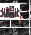 For KIA SORENTO L 2015 slip dust mat sticker gate slot pad door carpets Interior cup holder decoration
