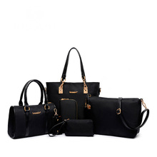 2016 New women fashion composite handbag six pieces nylon bag set female big bags 6 pcs women handbags of famous brands SD10
