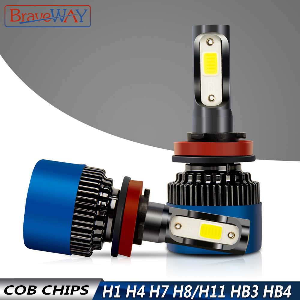 BraveWay HB3 HB4 LED Bulb H4 H7 H11 Led Headlight Bulbs for Motorcycle Car Led Auto Lamps Car Lights 9005 9006 H8 Fog Lights