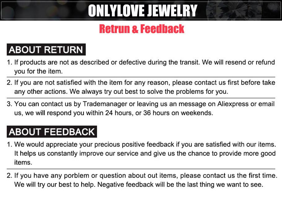feedback & return