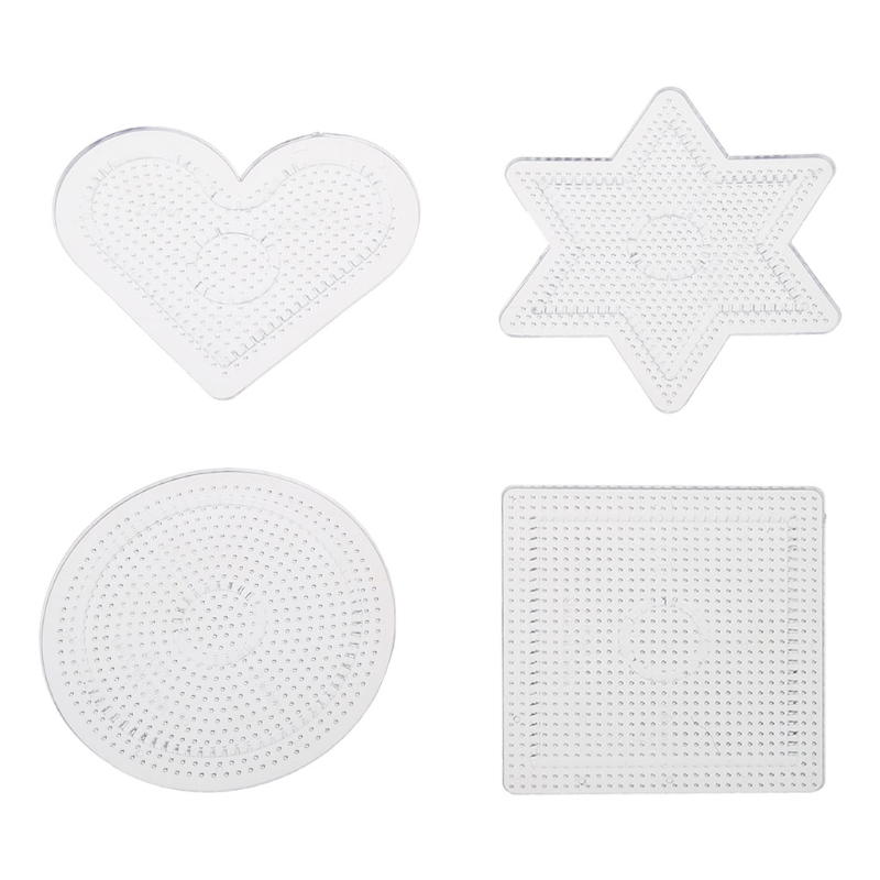 4Pcs Diy Transparent Shape Puzzle Template For 2.6mm Hama Beads Perler Beads