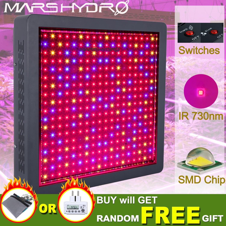 Mars Hydro Mars II 1600W Full Spectrum LED Grow Light for Indoor Garden Hydro System Hydroponics Veg Flower Plants Medical