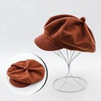 Wool Beret Caps Black French Beret Hats For Women 2017 Winter Warm Wool Hats Female Berets