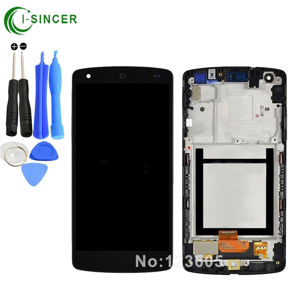 for LG Google Nexus 5 D820 D821 LCD Display Touch Screen Digitizer Assembly with Frame Black -Tools, free shipping new lcd display touch screen digitizer assembly for lg google nexus 5 d820 d821 black free shipping
