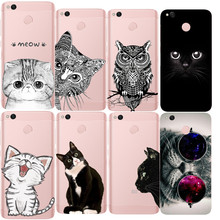 Half face Gray Dark owl Tilted head Glasses Indian Cat Phone Case For Xiaomi Redmi 3 3S 4A 4X 4 4S Note 3 Note 4 Note 4X