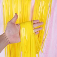 1*3 M Macarons Farbe Regen Vorhang Helle Und Schöne Geburtstag Party Hintergrund Wand Dekoration Requisiten Für Verschiedene Szenen