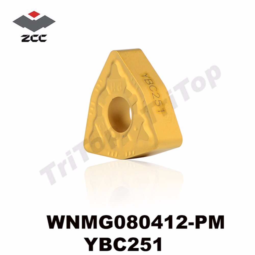 WNMG433-PM YBC252  Wear-resisting 10pcs ZCC.CT WNMG080412-PM YBC252