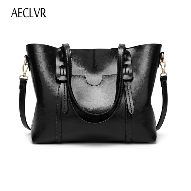 AECLVR Fashion Vintage Women Handbag PU Leather Zipper Shoulder Bag Large Capacity Tote Crossbody Bag For Ladies Bolsas Feminina