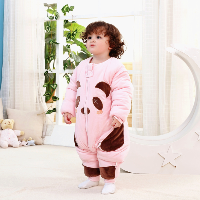 ФОТО Lovely Children Baby Sleeping Bag Winter Thicken Cotton Warm Baby Newborn Sleep Bag Swaddle Wrap Infant Anti Kick Sleep Sack C01