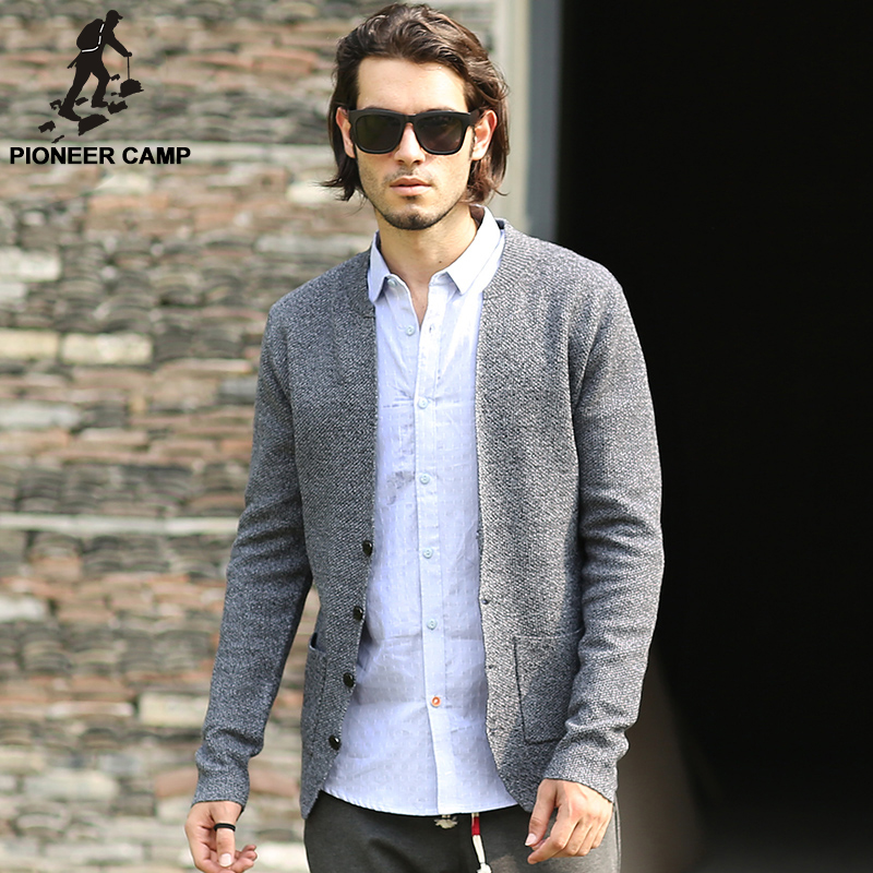 Pioneer Camp 2017 spring autumn new fashion mens cardigan sweaters ...
