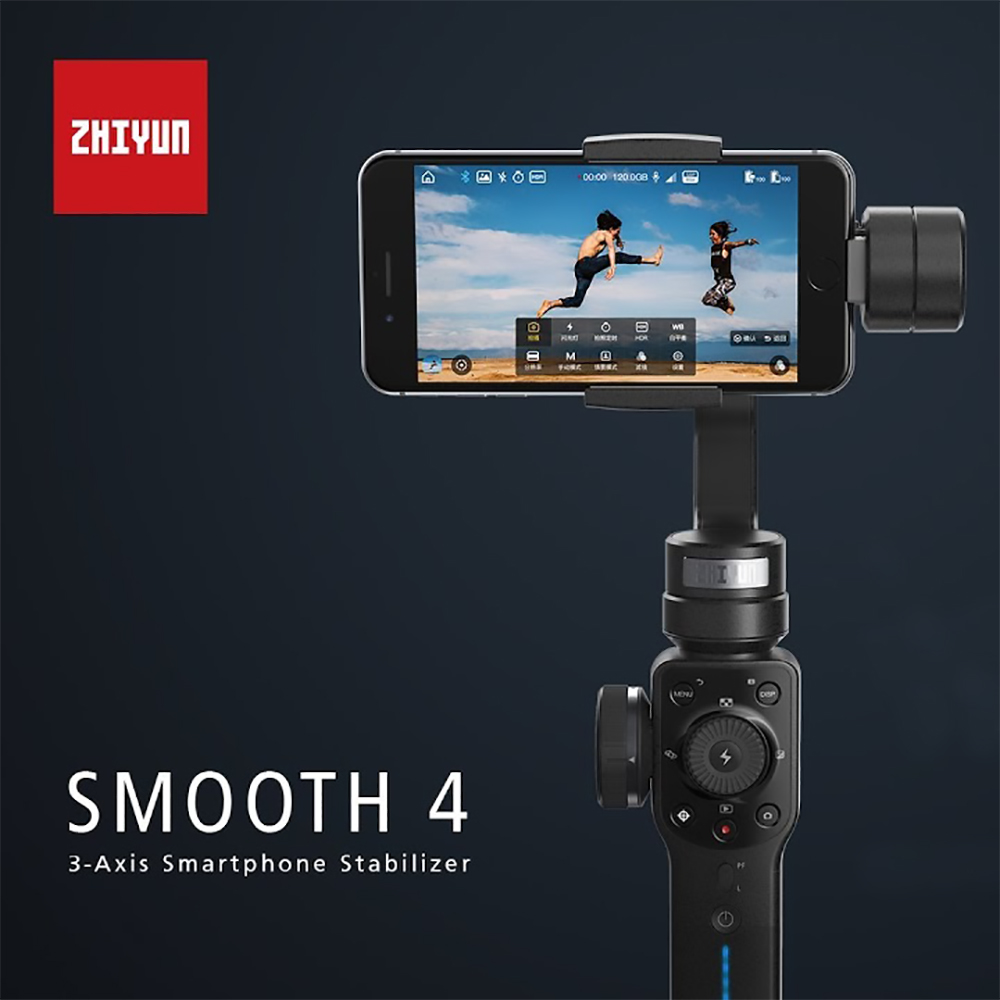 Zhiyun SMOOTH 4 3-Axis Handheld Gimbal Stabilizer for Smartphone action camera phone Portable iPhone Q Gopro Hero sjcam ulanzi zhiyun smooth q handheld 3 axis smartphone gimbal video stabilizer for iphone 7 samsung gopro hero 5 4 sjcam yi cameras