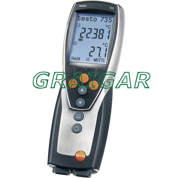 Free Shipping Testo 735 1 three channel temperature measuring instrument thermometer 0560 7351