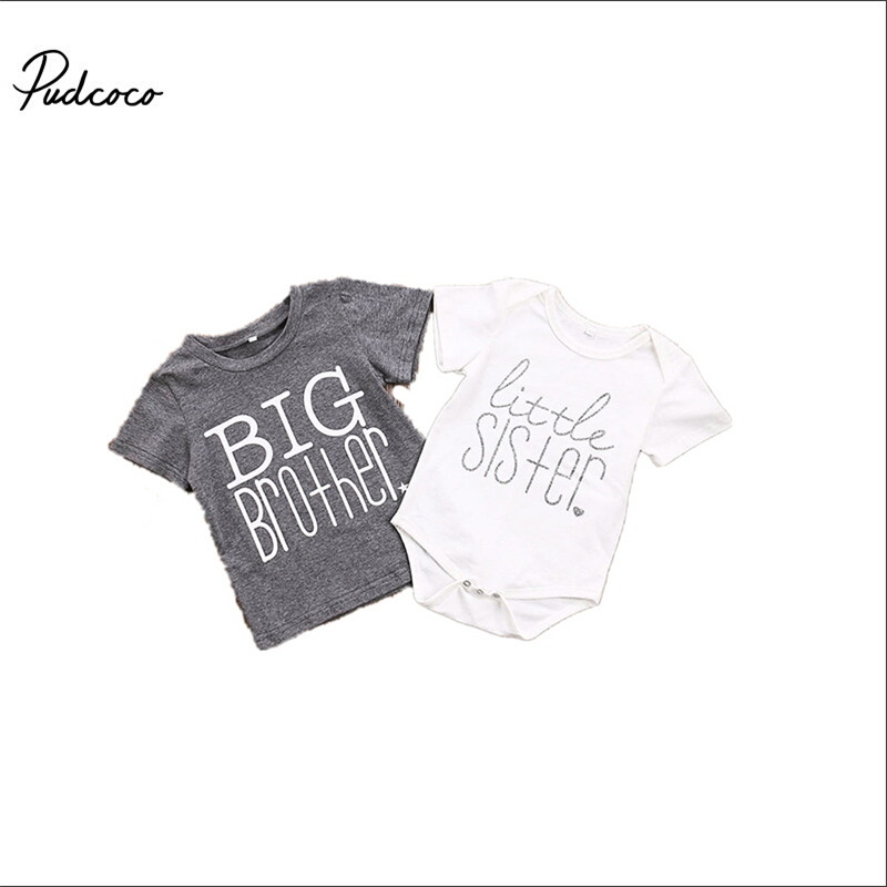 T-Shirt Matching Sister Baby-Boys Newborn Girls Kids Children Romper New-Arrival