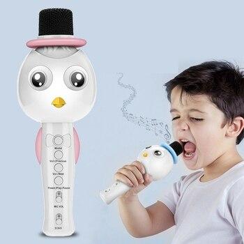 Q79 micrófono de Karaoke inalámbrica para niños portátil Bluetooth Mic gran Solo cantando KTV partes niños niñas regalos de navidad