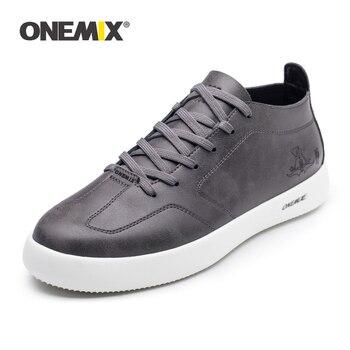 Onemix Sapatos de Skate dos homens Atlético Sapatos de Caminhada Respirável Sapatos Dos Homens Do Esporte Ao Ar Livre para Caminhadas Ao Ar Livre Trekking Jogging