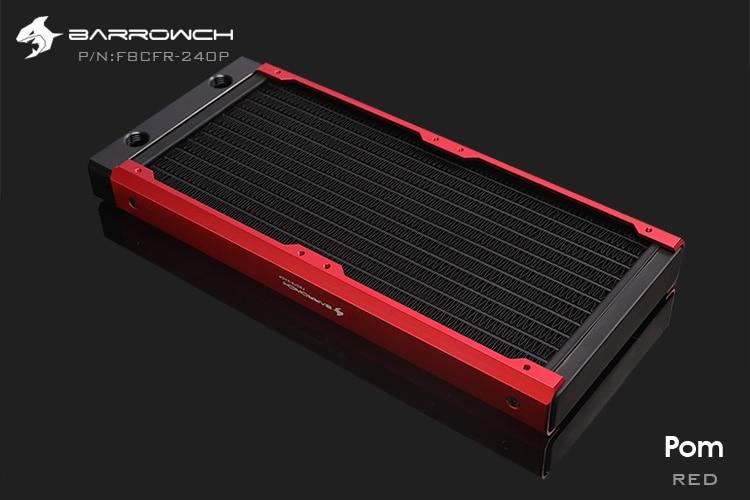 Barrowch FBCFR-240, caméléon poisson modulaire 240mm radiateur, acrylique/POM radiateur amovible, adapté pour les ventilateurs 120mm