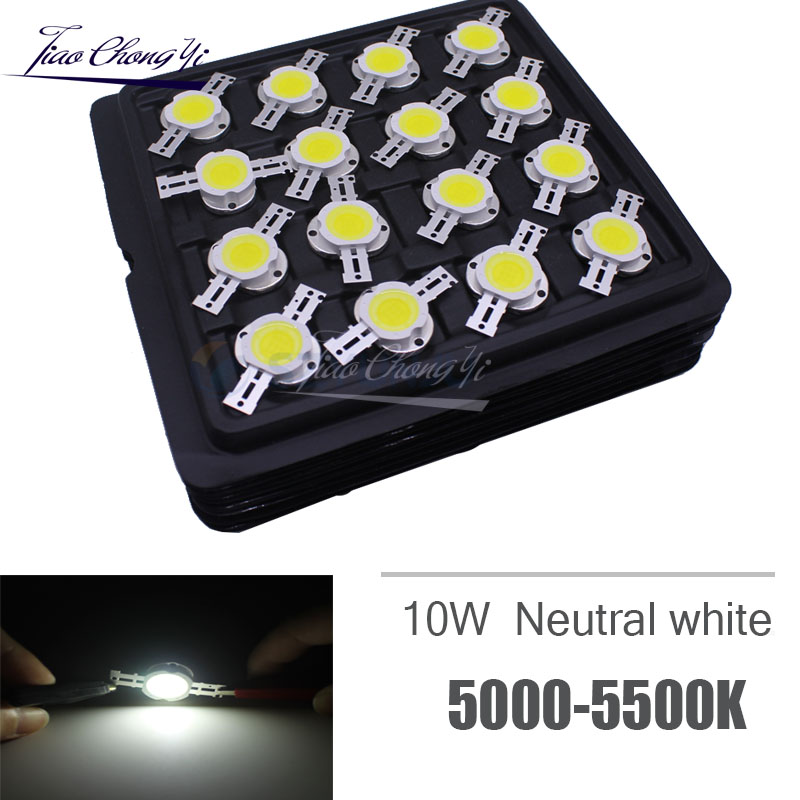 100 pcs Ad Alta Potenza Circuito Integrato del LED 10 W Neutral White 5000 k Perline di Illuminazione 9 12 v 1050mA Integrato matrix Lampadina COB Lampada Per Proiettore