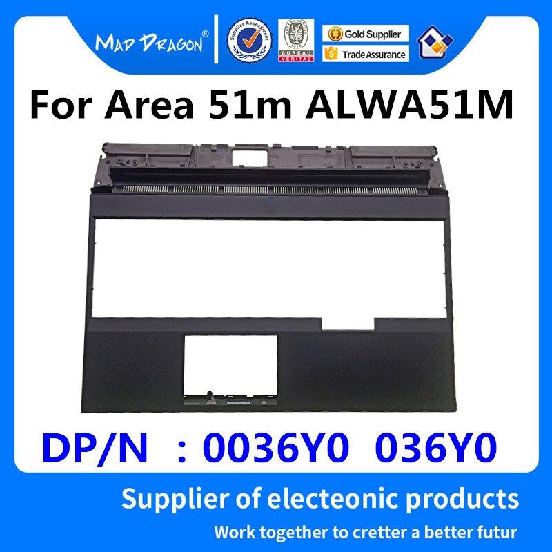 FOU DRAGON Marque Ordinateur Portable nouveau Remplacement Repose-poignets Couvercle Supérieur Cas pour Dell Alienware Area 51 m ALWA51M Noir C shell 0036Y0 036Y0