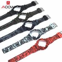 Étui en caoutchouc silicone Bracelet de Montre Casio G-SHOCK GA-110/100 GA-120 GD-110 Hommes Sport Imperméable À L'eau Bracelet Bracelet Accessoires