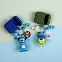 Cartoon  cute toy Silicone Case for Apple Airpods Bluetooth Wireless Earphone Headphone Protective Bag keychain