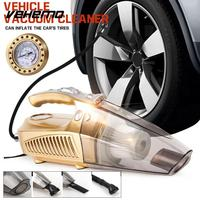 Car Vacuum Cleaner Handheld Vacuums Portable Vehicles   Auto   120W 3000mba Mini Gold Multifunctional