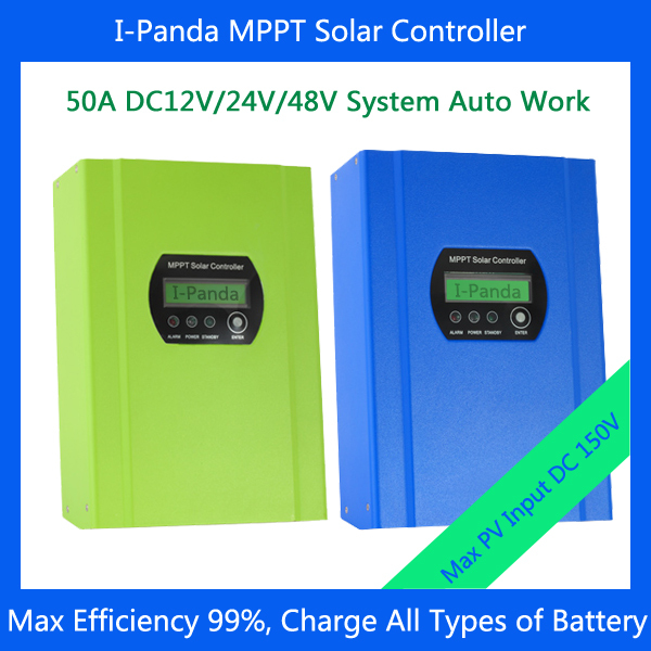 48V 50A solar power supply boost inverter MPPT charge controller cheap saipwell high power solar charge controller 12v 50a smg50