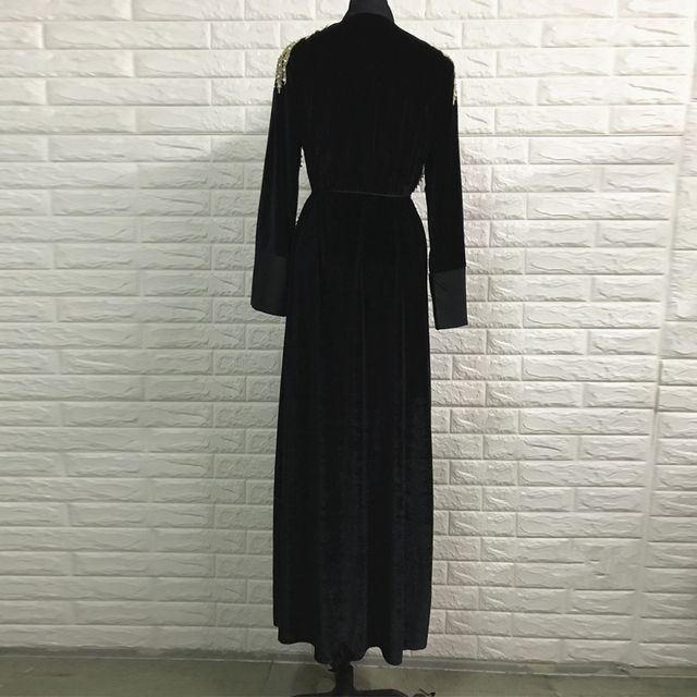 Women abaya kaftan velvet turkey muslim hijab dress