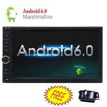 "Quad Core Android 6.0 3G WIFI 7 ""Double 2DIN Coche Radio Estéreo Reproductor de MP3 GPS Nav grabadora de cinta de cassette En La consola Central"