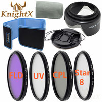 KnightX 49mm 52mm 55mm 58mm 62mm 67mm 77mm FLD UV CPL STAR ND Color Filter Kit