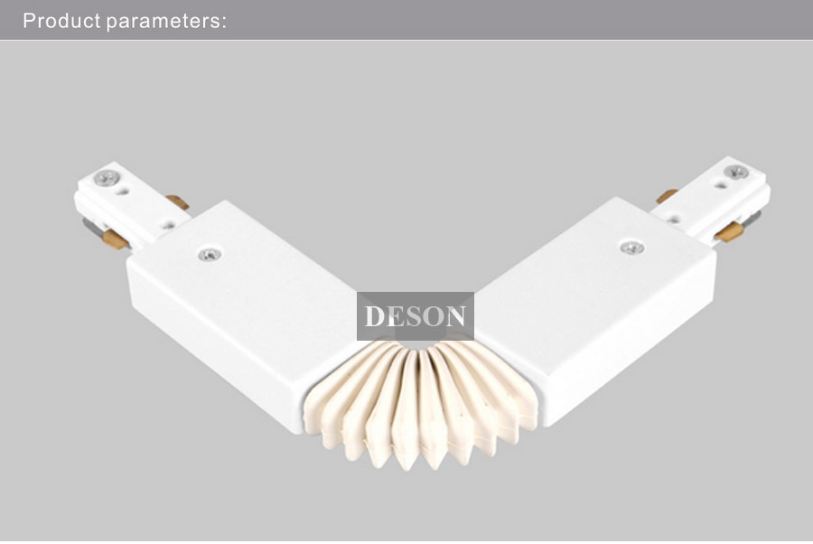 3 wire 2 circuit led light track rail flexible connector lighting 3 wire 2 circuit led light track rail flexible connector lighting track system components aluminum track accessories black white in track lighting from aloadofball Choice Image