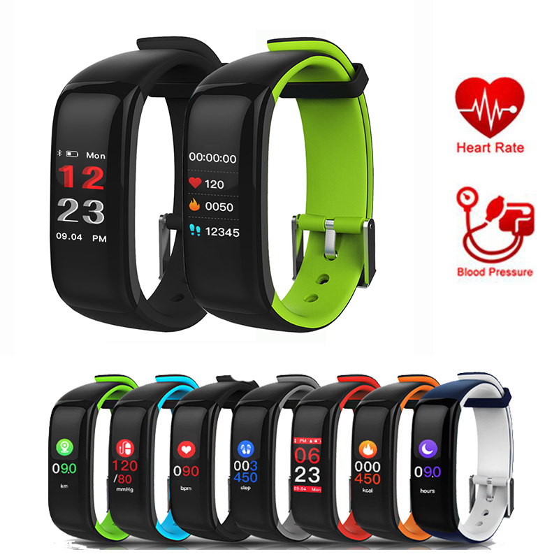 Bluetooth Smart Watch Heart Rate Blood Pressure Smart Band Sport Wristband Fitness Tracker Bracelet Pk Fitbits Xiaomi Mi Band 2