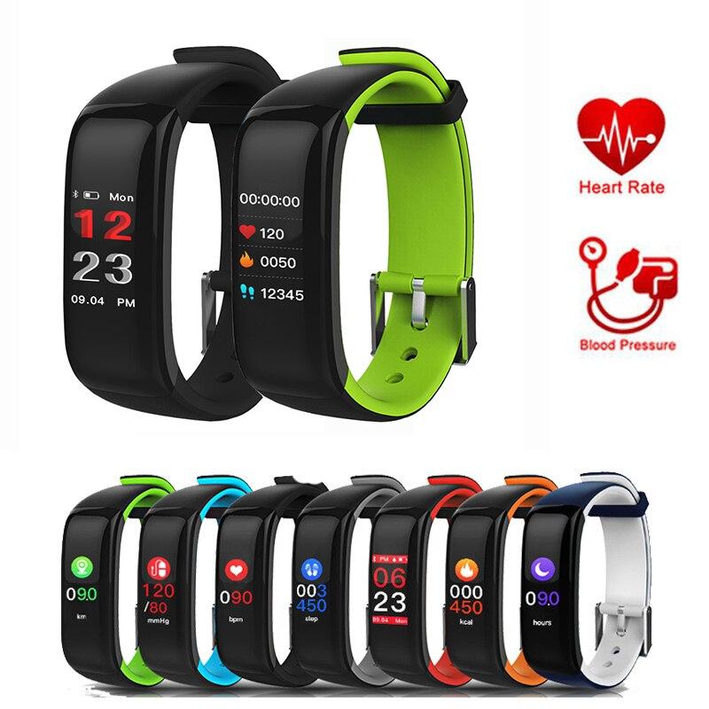 Cardiofrequenzimetro Orologi Smart Misuratore di Pressione Sanguigna Intelligente Sveglia Intelligente Wristband Pulsometro Fitness Braccialetto Pedometr pk fitbits