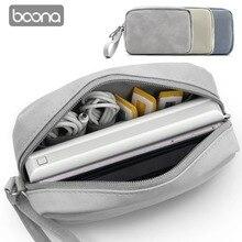 Boona нубук PU Оксфорд мощность банковская сумка HDD протектор чехол жесткий диск USB кабель Органайзер чехол