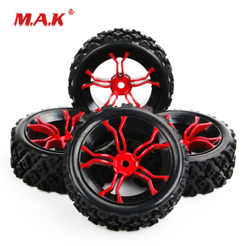 4Pcs/Set 1/10 Scale Rally Tires&Wheel Rim with 6mm Offset and 12mm Hex fit HSP HPI RC 1:10 Off Road Car Accessories image