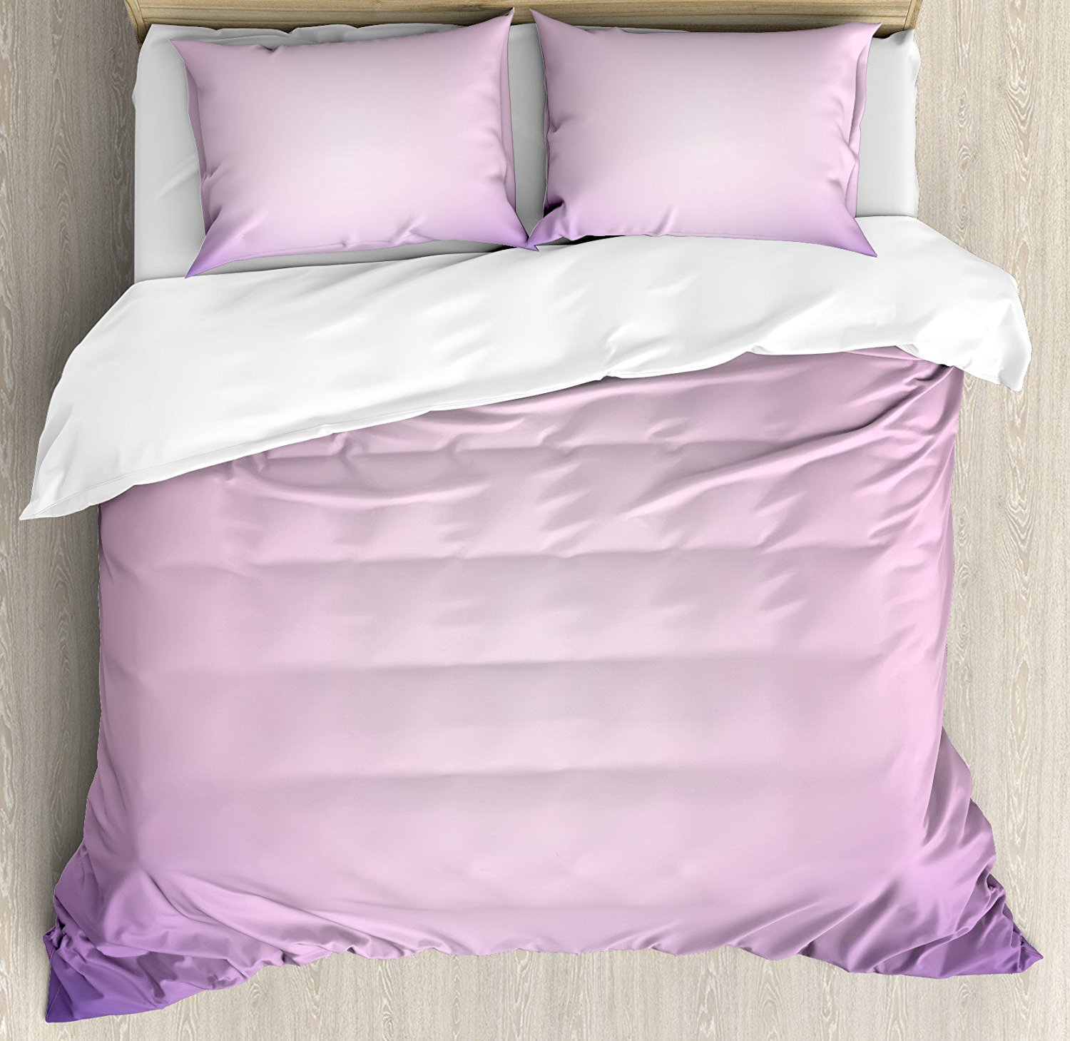 Lavender duvet cover set pink and purple ombre print modern pastel color gradient design digital art bedding set in bedding sets from home garden on