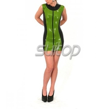 Latex Rubber School Blouse With tight dress