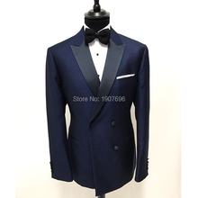 Double Breasted Wedding Men Suits for Prom Dinner Two Piece Jacket Pants Peaked Lapel Formal Man Suit все цены