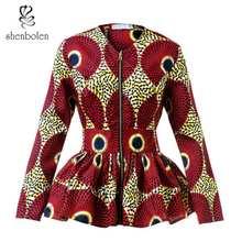 African Clothes for Women Shirt high waist Top Ankara Print Plus Size Lady fashion