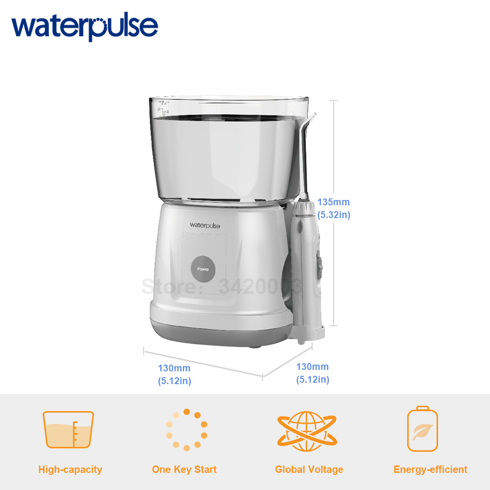 Image 3 - Waterpulse V700 Portable Water Flosser Touch Start Waterproof Oral Orrigator LED Touch 5 Tips Electric Household Dental Floss-in Oral Irrigators from Home Appliances